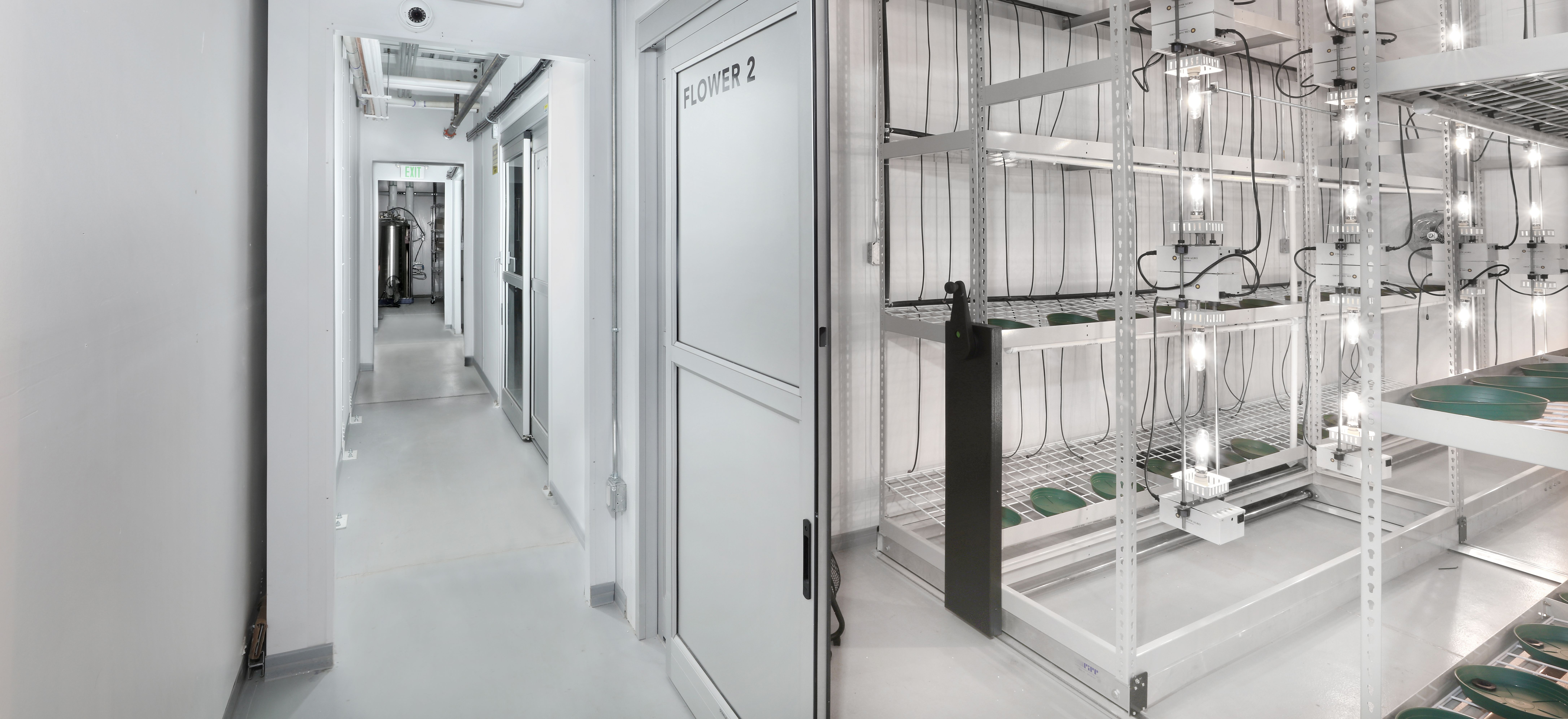 Flowering Room for Cannabis Cultivation - PortaFab Modular Cleanrooms