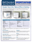 8x8 standard quick ship office sales sheet