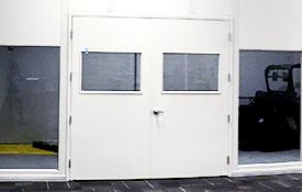 double doors with windows
