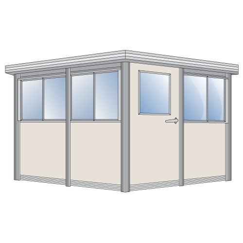 PortaFab | 6 x 10 Security Guardhouse, Ticket Booths, Office Booths