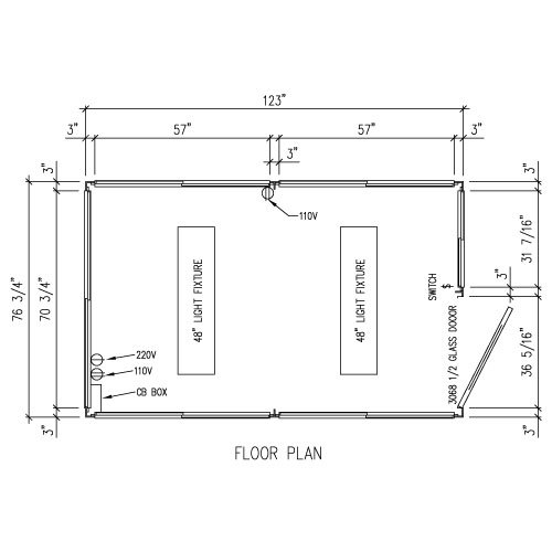 6 X 10 Booths on Office Electrical Floor Plan