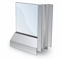 Beveled Cleanroom Window