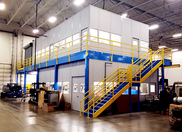 Two Story Mezzanine Office