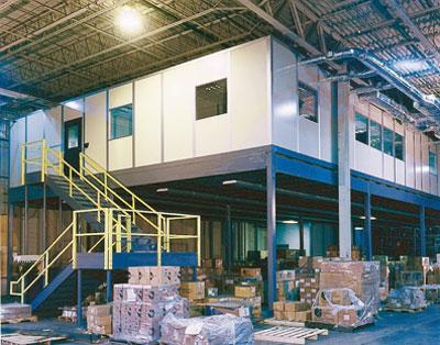Modular Office on Mezzanine | PortaFab Case Study