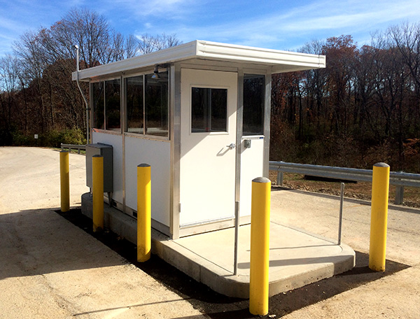 5' x 10' Guard Booth for Perimeter Security - PortaFab