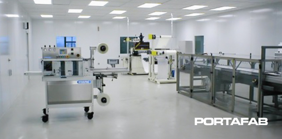 Cleanroom Furring Wall System - Cleanroom with Furring Walls - Cleanroom Furring Wall Options