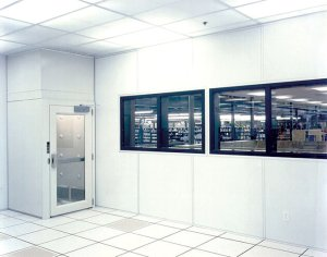 cleanroom with air shower or airlock