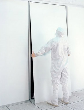 cleanroom construction - panel replacement