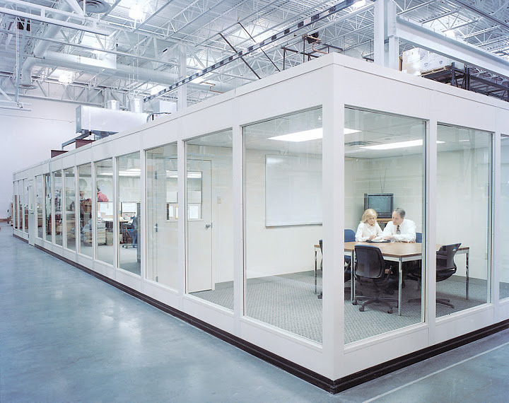 Portafab glass office partitions for Glass walls