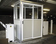 Parking Booths - PortaFab Pre-Assembled Booth Application