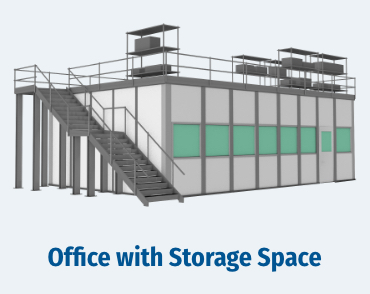 Office with Storage Space, modular warehouse office with storage space
