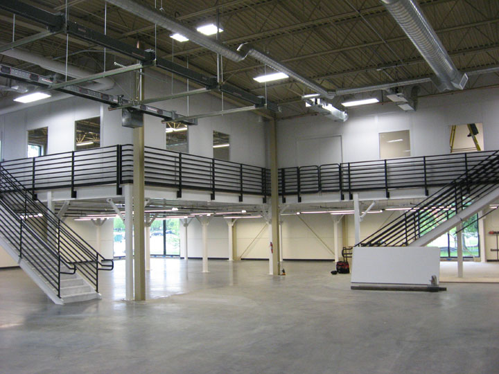Industrial Offices On Mezzanine For Nike Portafab Case Study