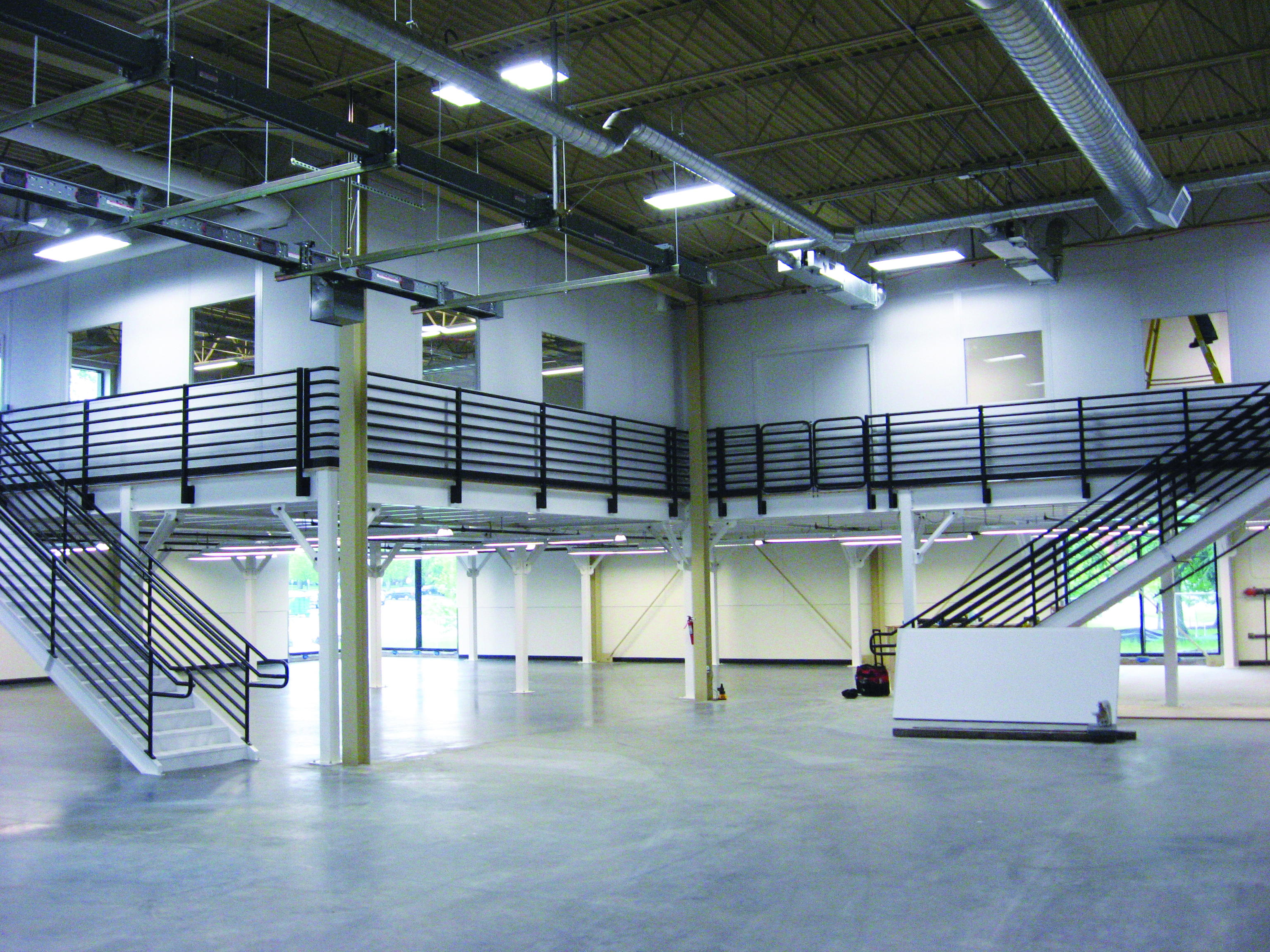 Warehouse Offices on Mezzanine at Nike - PortaFab Modular Building Systems