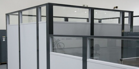 freestanding office partition, freestanding modular office wall, modular office walls, modular wall system