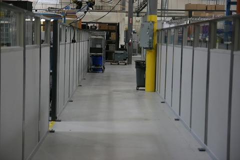 Manufacturing Cell Wall Partition - PortaFab