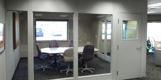 floor to ceiling office partition, full length office partition, modular office wall, modular office partition