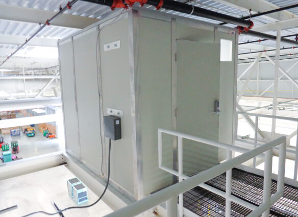 equipment enclosure used as a modular communication closet
