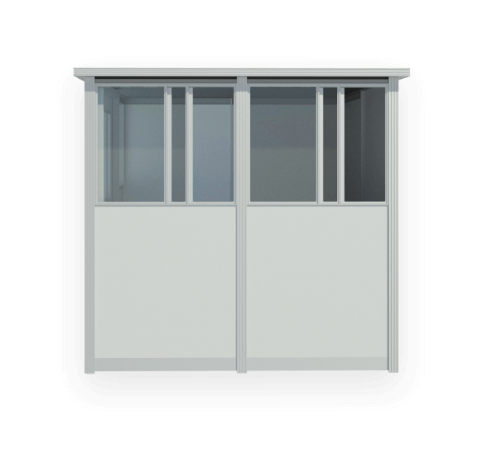 sliding booth windows