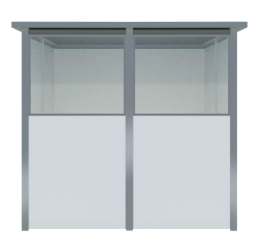 fixed booth window