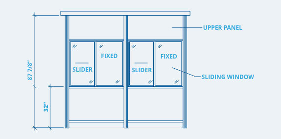 booth window placement diagram
