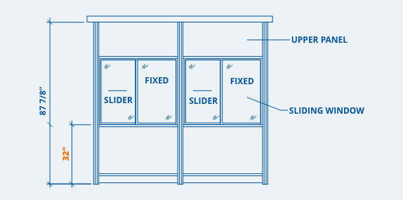 Booth Window Placement Options