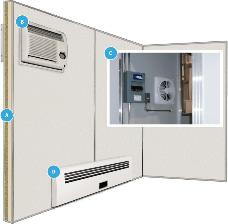 example HVAC options for booths