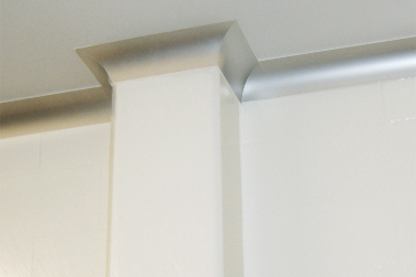 isolation room wall coving