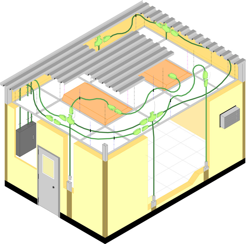 portafab modular electrical wiring system for prefabricated buildings rh portafab com sumitomo electric wiring systems maroc electrical wiring system in a warehouse