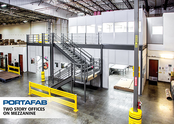 modular offices on mezzanine