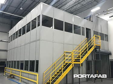 two story modular building, two story modular office, two story office