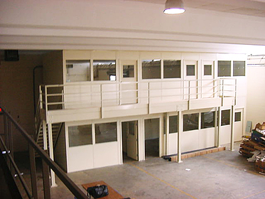 Offices on Mezzanine - PortaFab Modular Building Systems