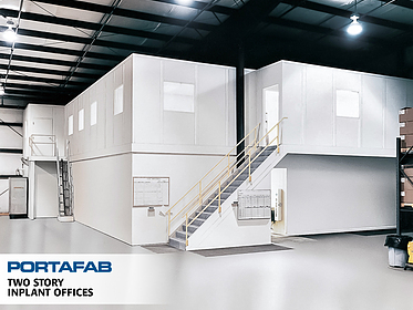 Two-Story Inplant Offices - PortaFab Modular Buildings