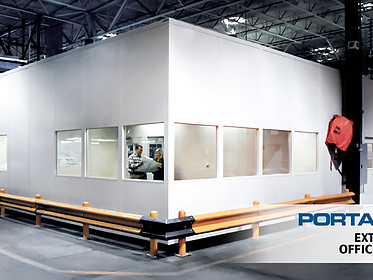Extra-Tall Office Walls - PortaFab Modular Inplant Buildings