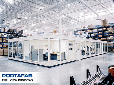 Full View Windows - PortaFab Modular Inplant Buildings
