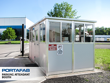 Parking Attendant Booth - PortaFab Modular Booths & Shelters