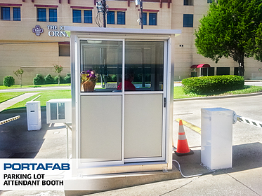 Parking Lot Attendant Booth - PortaFab Modular Booths & Shelters