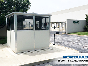 Security Guard Booth - PortaFab Modular Booths & Shelters