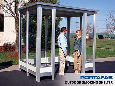 Smoking Shelter - PortaFab Modular Booths & Shelters