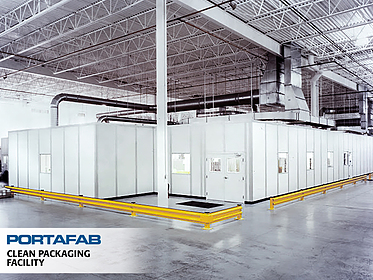 Clean Packaging Facility - PortaFab Modular Cleanrooms