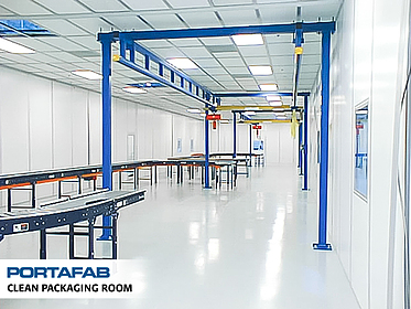 Clean Packaging Room - PortaFab Modular Cleanrooms