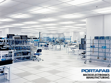 Microelectronics Manufacturing - PortaFab Modular Cleanrooms