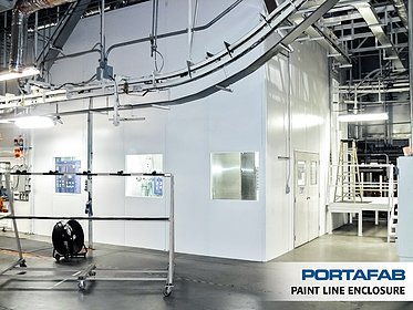 Paint Process Enclosure / Coating Enclosure - PortaFab Modular Cleanrooms