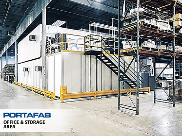 Office & Storage Area - PortaFab Modular Building Systems