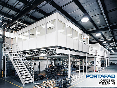 Office on Mezzanine - PortaFab Modular Building Systems