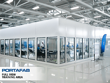 Full View Training Area - PortaFab Modular Wall Partitions & Demising Walls