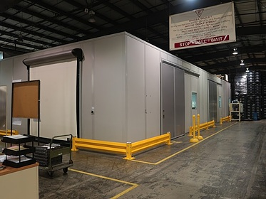 Climate Controlled Test Facility with Top Hung Sliding Doors