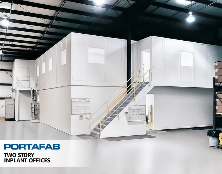 Two Story Inplant Offices   PortaFab Modular Buildings