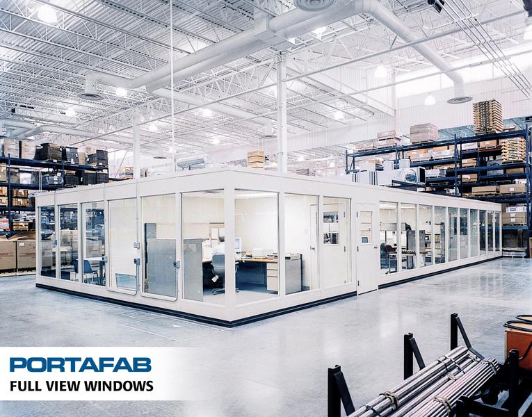 prefabricated office space. Full View Windows - PortaFab Modular Inplant Buildings Prefabricated Office Space U
