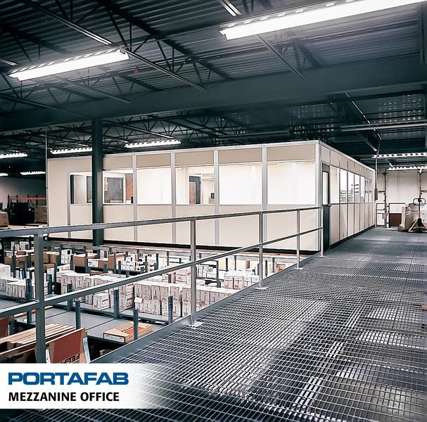 Warehouse mezzanine modular office Modular Inplant Mezzanine Office Portafab Modular Inplant Buildings Portafab Portafab Modular Warehouse Offices Inplant Modular Buildings
