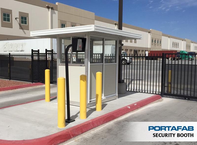 Portafab prefab booths guard toll parking lot